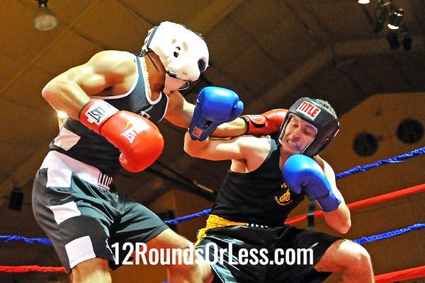 Bout 6 Joe Bigler, King's Gym -vs- Anthony Cannella, West Side BC, 152 lbs, Novice