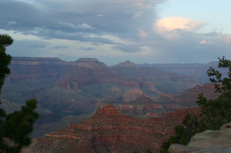 With no direct light on it, the canyon looks mysterious and misty.