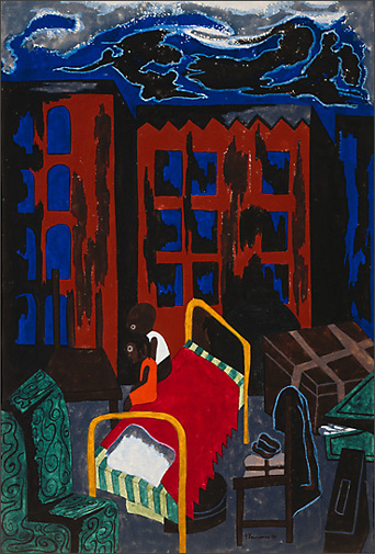 "Jacob Lawrence, ""They Live in Fire Traps"" (1943)"