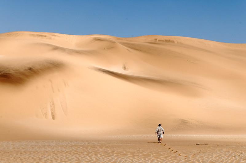 Tommy zeigte uns auf einer Tour kleine Tiere in der Wüste Namib.