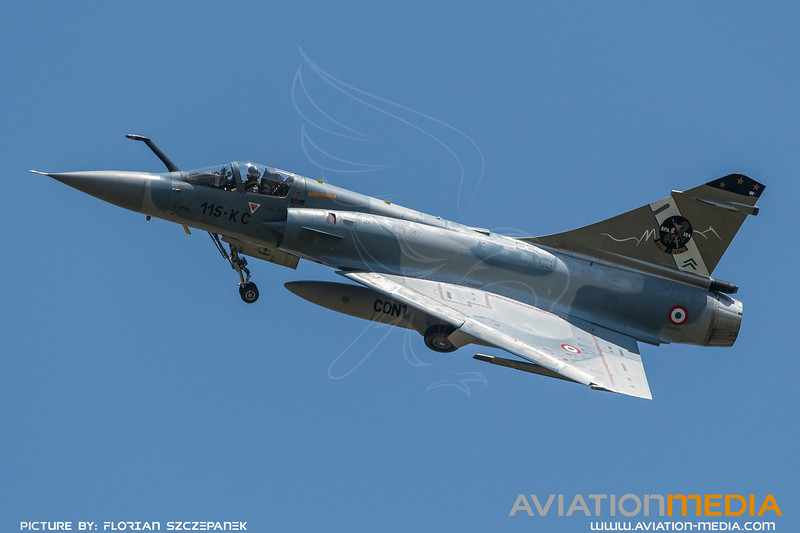 French Air Force EC 2-5 / Dassault Mirage 2000C / 120 115-KC / SPA 124 100th Anniversary Livery