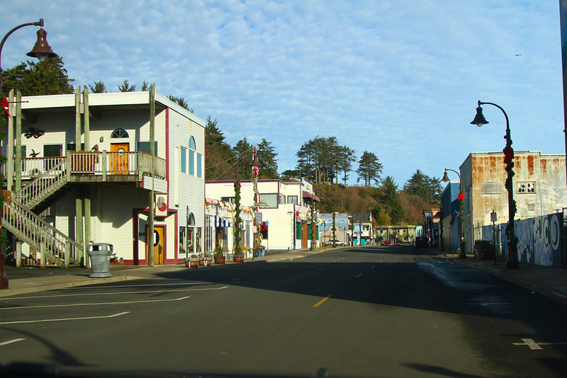 Old downtown Newport on the waterfront about noon Xmas Day.   We had the town all to ourselves