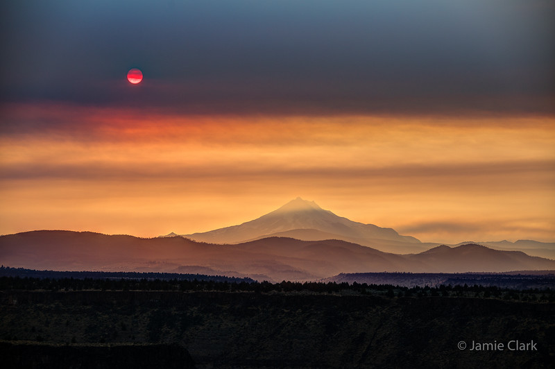 Sisters Wildfire Sunset