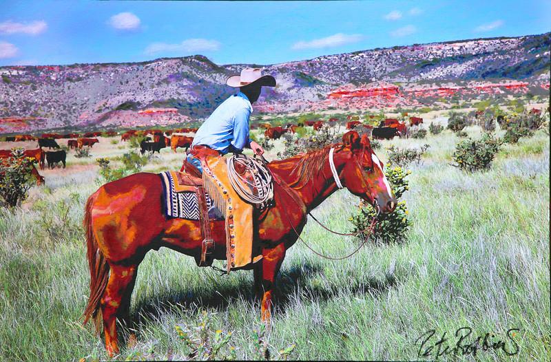 Rem Holding Herd, Bell Ranch