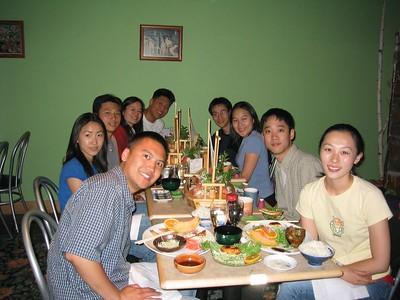 Melissa Lin's welcome back dinner @ Tanaka Sushi, Sunday 2003.07.20
