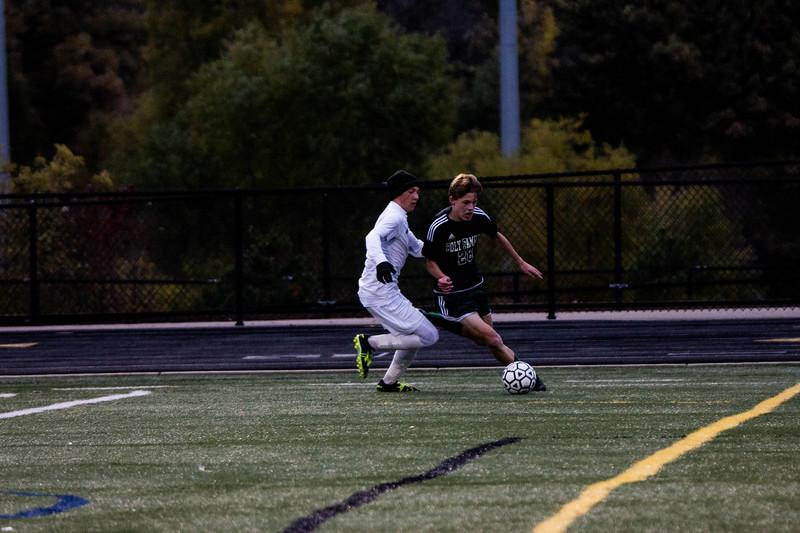 Holy Family Varsity Soccer vs. Monticello Oct 11, 2018: Ben Creager '20 (26)