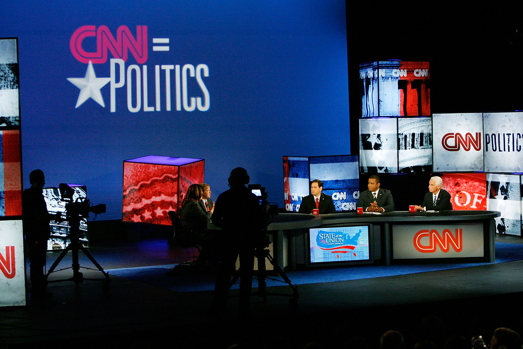. (R-L) Florida Gov. Charlie Crist, Rep. Kendrick Meek (D-FL), and Republican Marco Rubio participate during the Times/CNN Senate and Gubernatorial debates at the Marshall Student Center at the University of Tampa October 24, 2010 in Tampa, Florida.   (Photo by Joseph  Garnett Jr.-Pool/Getty Images)