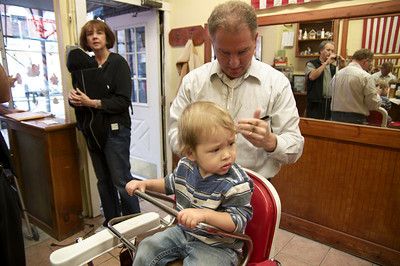 Dylan's First Haircut - 2010