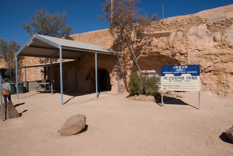 Outsdie Catacomb Church - Coober Pedy, South Australia