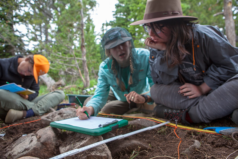 A team of archaeologists from the Paleocultural Research Group and Colorado State University excavate a prehistoric stone bowl found high in the Wind River Mountains. The bowl contained broken pieces of bone and fat residues that were used to reconstruct what was cooked in it. The results were shared with the Shoshone Bannock tribe and suprisingly matched the recipe for a Shoshone fish stew.