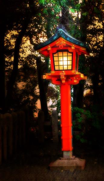Lamp at Fushimi Inari Taisha  Shrine