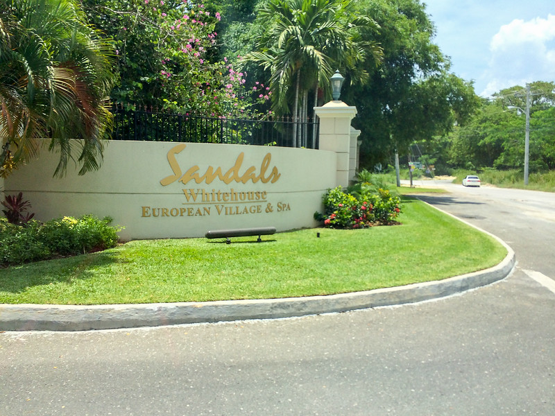 Entrance to Sandals Whitehouse