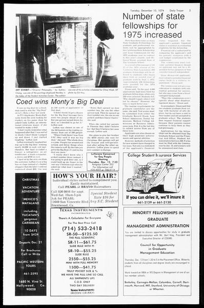 Daily Trojan, Vol. 67, No. 55, December 10, 1974
