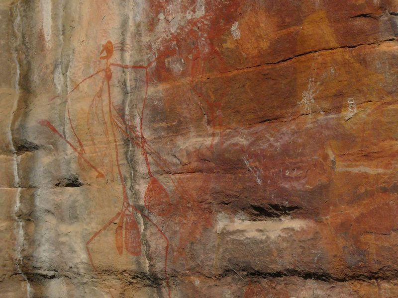 Aboriginal rock painting at Ubirr, Kakadu National Park.