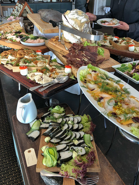 Greenlandic buffet at Hotel Arctic