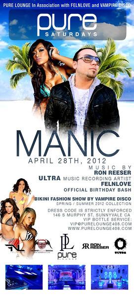 4/28 [Manic@Pure Lounge]