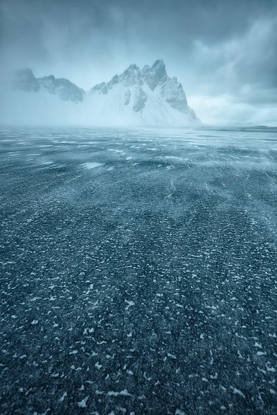 Stokksnes vestrahorn iceland winter mood ice snow shower fog.jpg