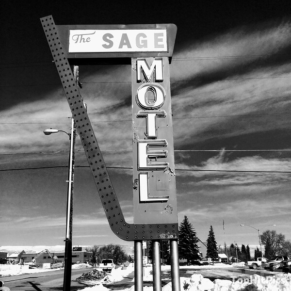 The Sage Motel Retro Hotel Sign in Vernal, Utah
