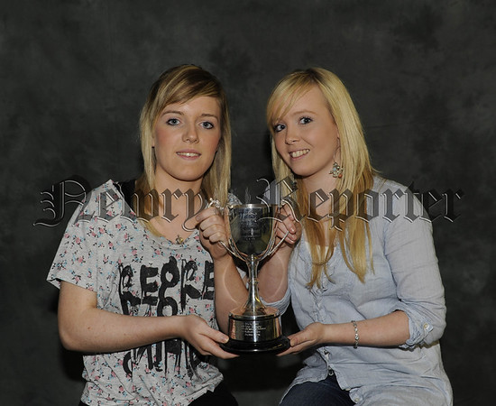 Siobhan Gernon and Grainne Garvey receive the O'Neills Sports Award for G.C.S.E Physical Education 10W45N606