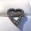 Victorian Rose Cut Witches Heart Pin 7