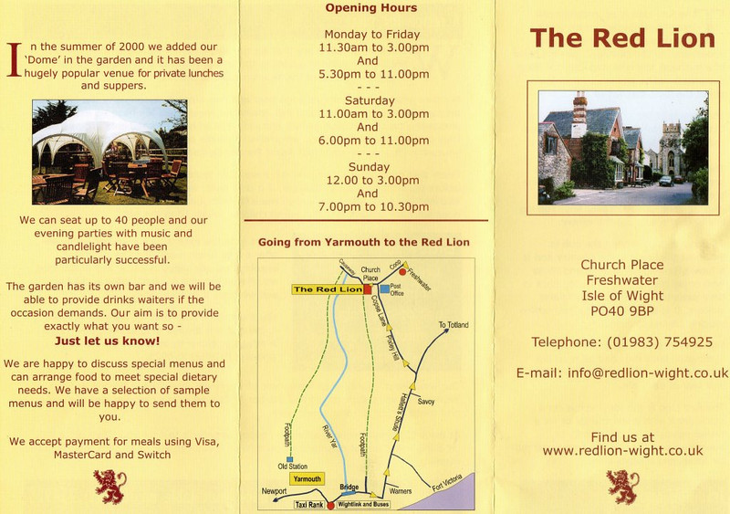 The Red Lion, Freshwater, IOW.
