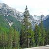 Winding road toward Cortina