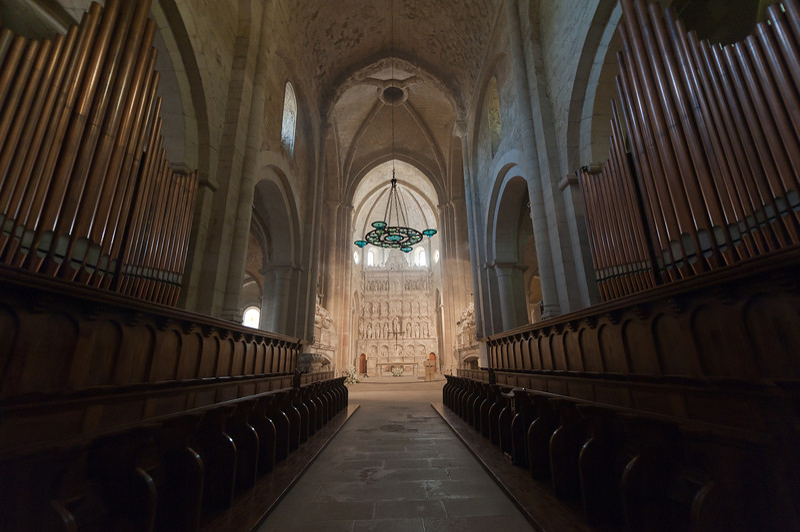 The Organ of Poblet in Poblet Monastery - Catalonia, Spain