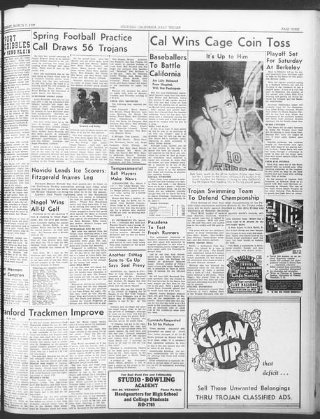Daily Trojan, Vol. 30, No. 92, March 07, 1939