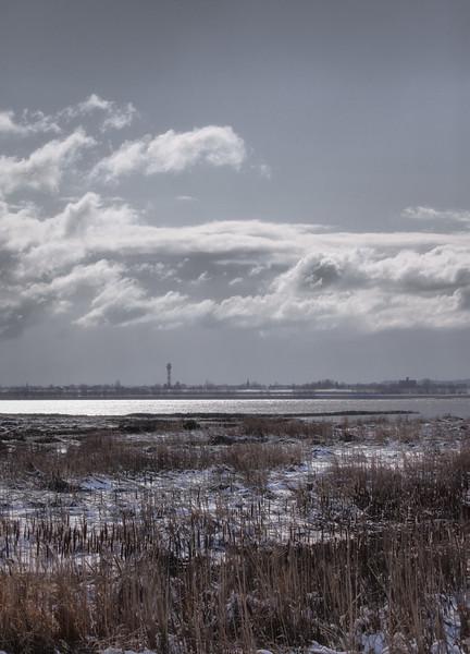 Winterstimmung an der Elbe bei Wedel