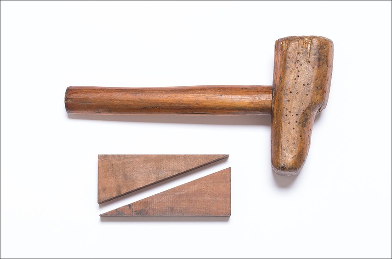 Mallet and wedge-shaped pieces