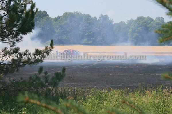 7/17/11 - Delhi Twp field fire, 3400 block of Every Rd