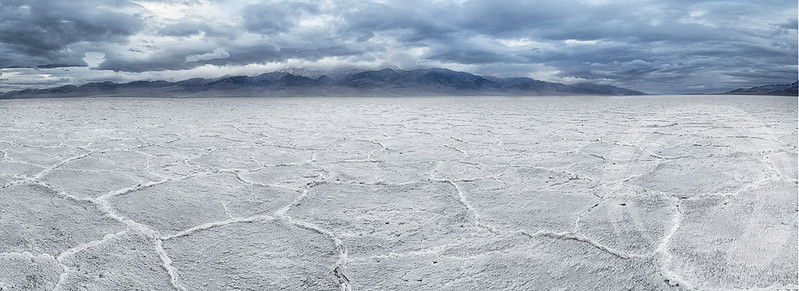 Badwater salt polygons