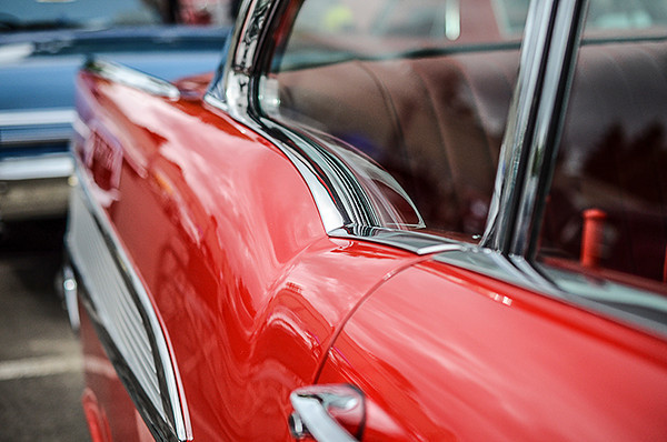 "0714 lines  Aside from ""What's a nice girl like you doing in a place like this?"", the '57 Chevy has some of my favorite lines.  Did you know that 7/13/12 is National Car Collector Appreciation Day?  I didn't either!"