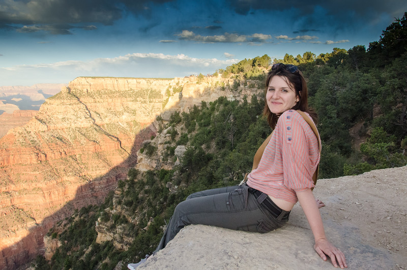 Alyona Goncharova at Grand Canyon