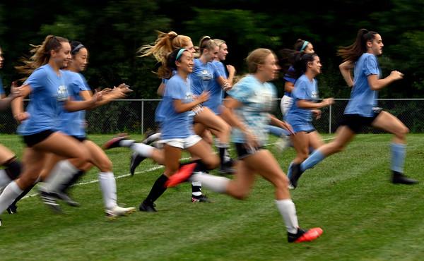Windham girls soccer practice