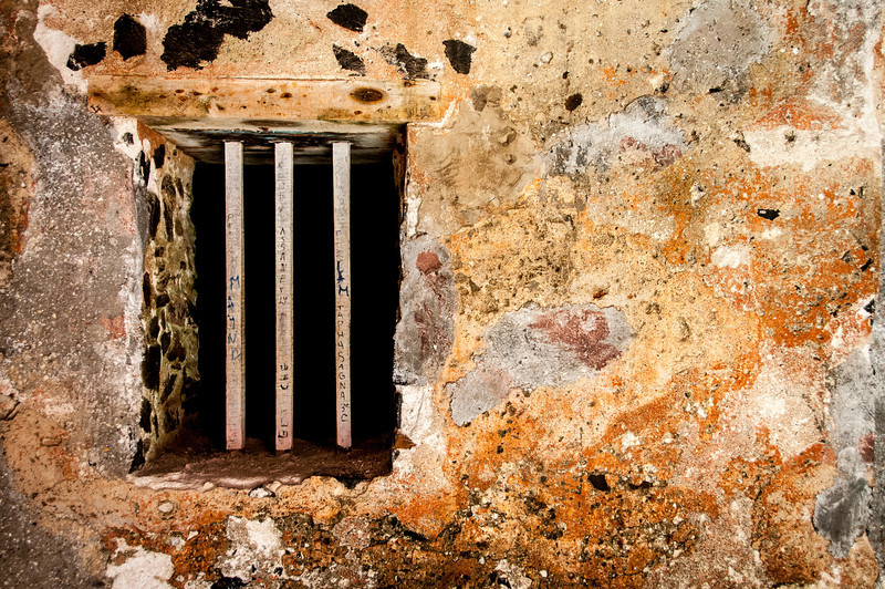 Prison window at the Fort D'Estrees in Dakar, Senegal