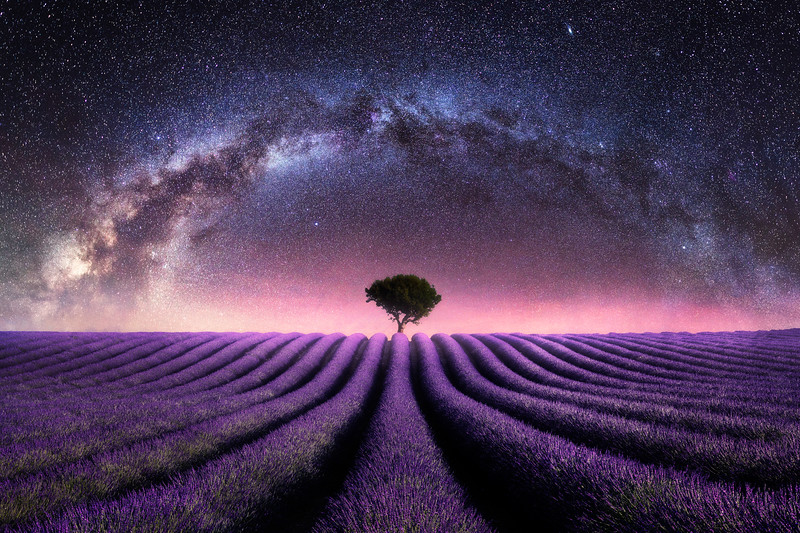 Lavender field valensole milky way night galaxy composite 2.jpg
