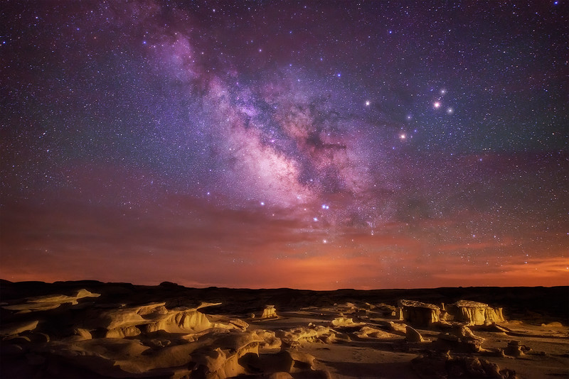 Bisti Badlands Milky Way painted