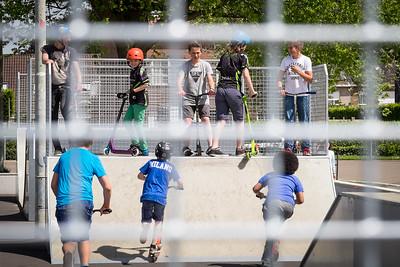 Inhuldiging vernieuwd skatepark 2015