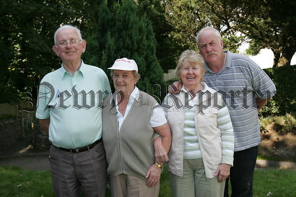 Pictured at Cloughoge Pitch and Putt Seniors Day are, Pascal and Teresa McCaul, Patricia Larkin and Ted Fearon.
