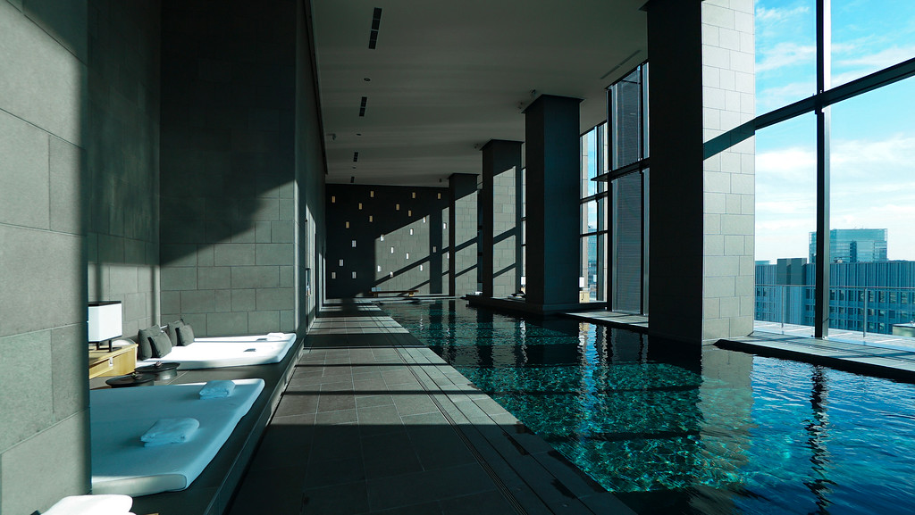 Pool at the Aman Tokyo hotel. Editorial credit: Agent Wolf / Shutterstock.com