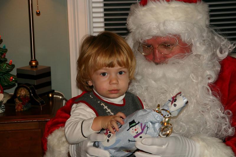 Gabey meets Santa.