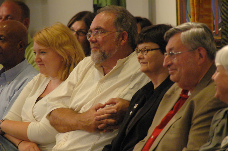 ELCA members at the September 19, 2010, ELCA Town Hall Forum, listen to Bishop Hanson respond to a question.