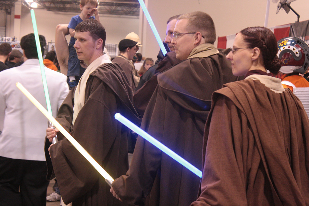 . Jedi from the 501st pose for a photo at the Motor City Comic Con. (Photo by Erica McClain)
