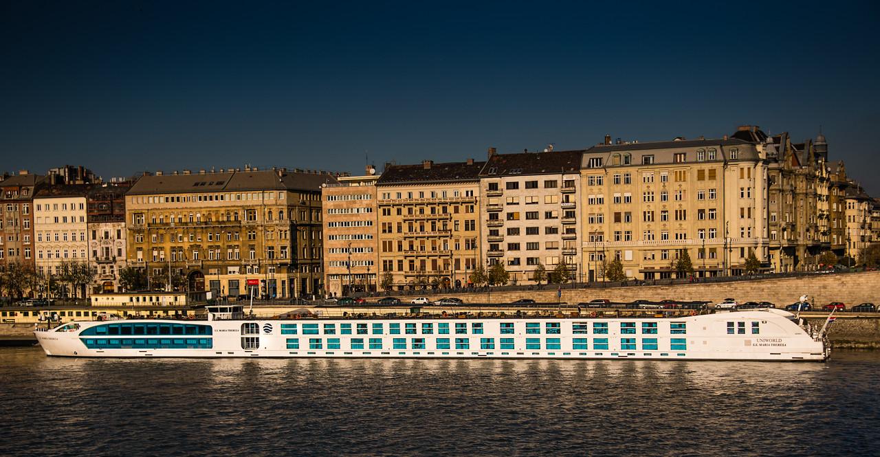 S.S. Maria Theresa Docked in Budpest, Hungary