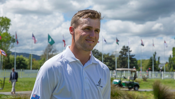 Luke Brown after his 3rd day of competition  in the Asia-Pacific Amateur Championship tournament 2017 held at Royal Wellington Golf Club, in Heretaunga, Upper Hutt, New Zealand from 26 - 29 October 2017. Copyright John Mathews 2017.   www.megasportmedia.co.nz