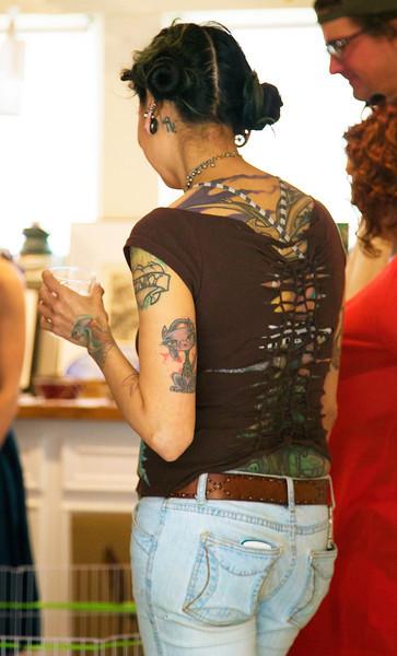 Elaborate tattoos.