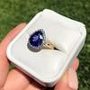 7.00ctw Tanzanite and Diamond Halo Ring 20