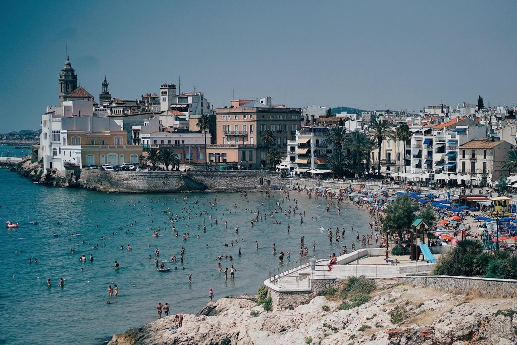 Beach in Sitges Spain