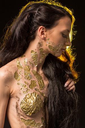 Lacey Gold Sparkles Studio Shoot